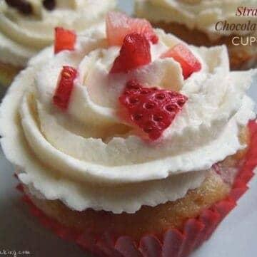Strawberry Chocolate Chip Cupcakes