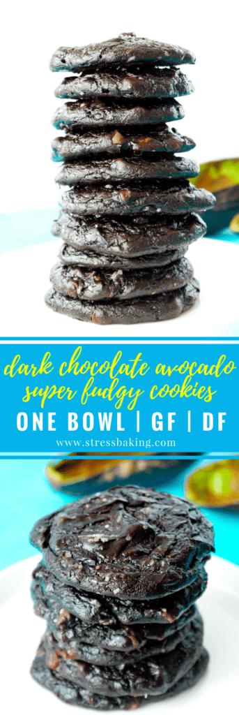 Dark Chocolate Avocado Super Fudgy Cookies