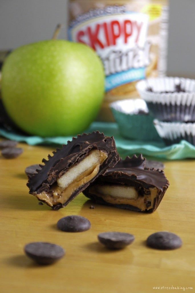 Peanut Butter Cups stuffed with apples