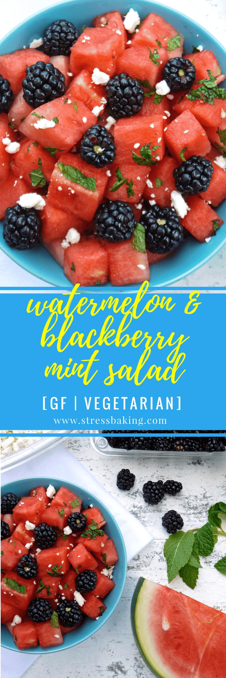Watermelon & Blackberry Mint Salad