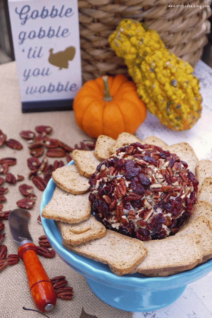 Cranberry Pecan Cheese Ball Stress Baking