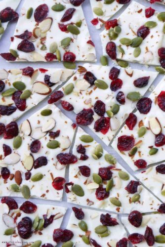 Cranberry White Chocolate Bark
