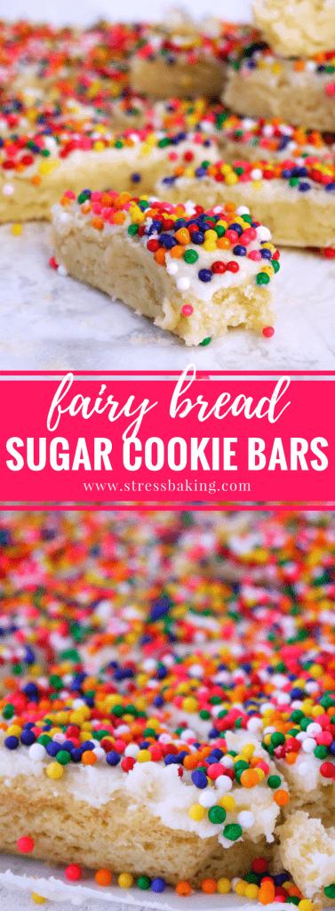 Fairy Bread Sugar Cookie Bars