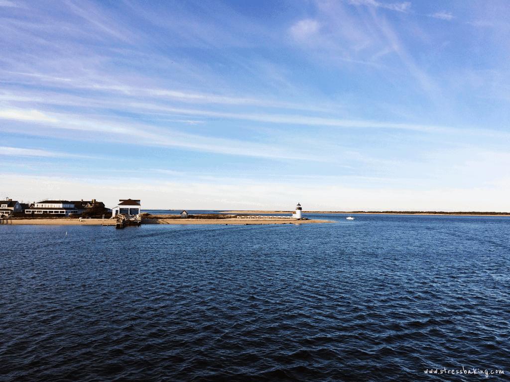 Approaching Nantucket by boat