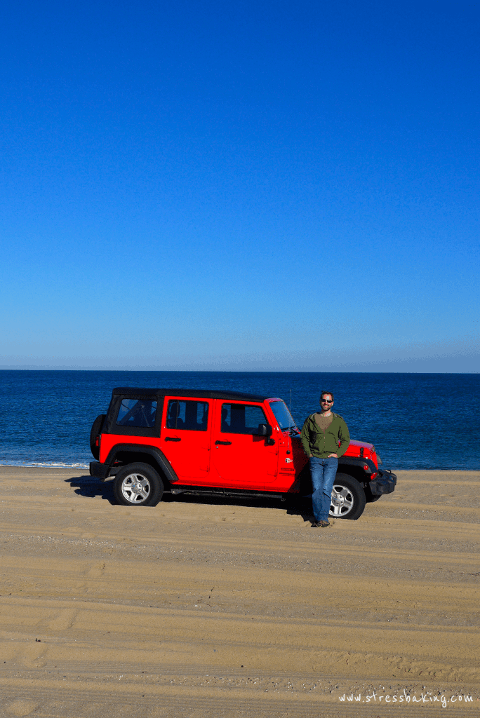 Jeep on the beach in Nantucket