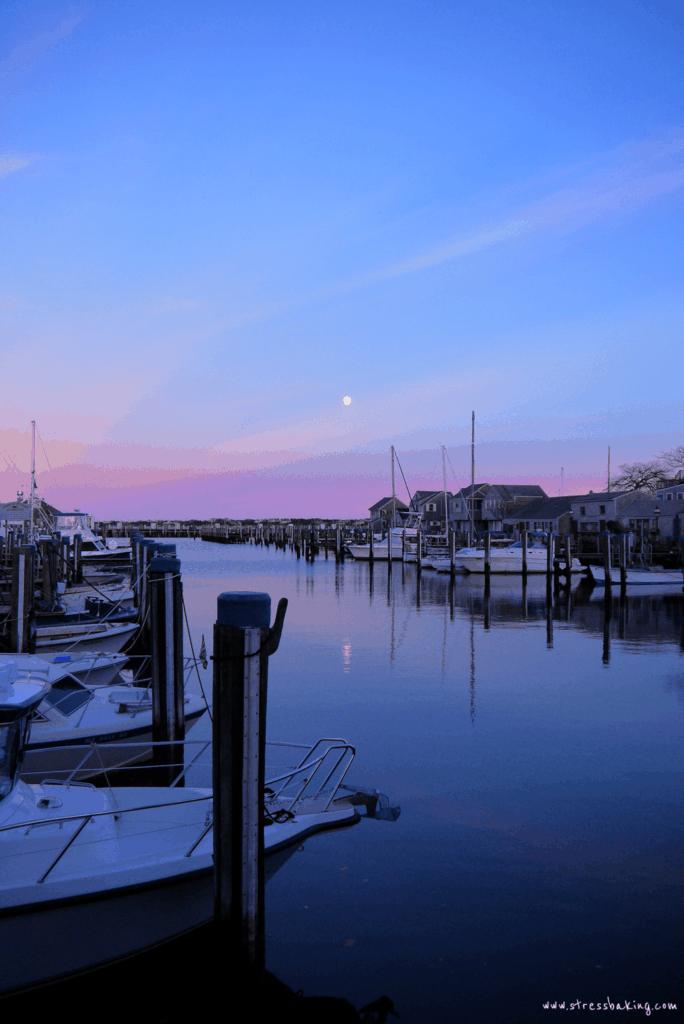 Nantucket harbor sunset