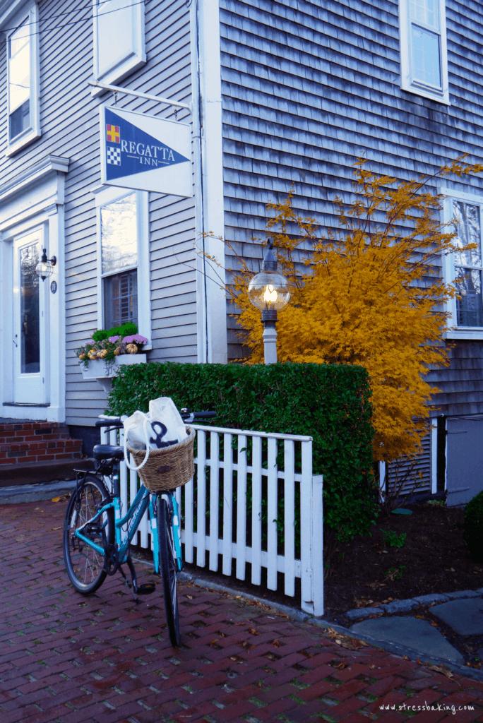 Bike in front of Regatta Inn