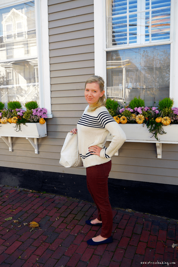 In front of the Regatta Inn on Nantucket