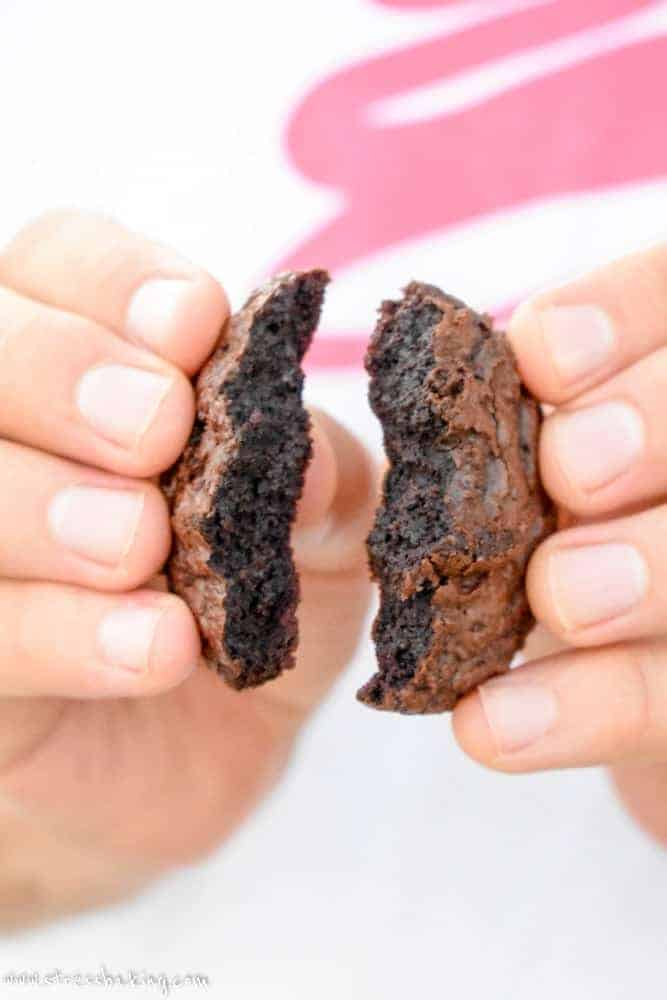 Brownie Cookies: The perfect combination of brownie and cookie! Crisp and crackly on the outside, chewy and fudgy in the middle with an indulgent dark chocolate flavor.   stressbaking.com