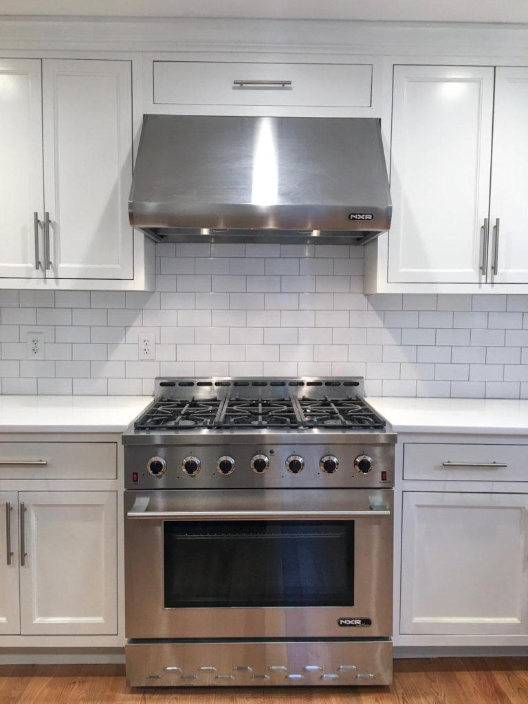 Six burner stove