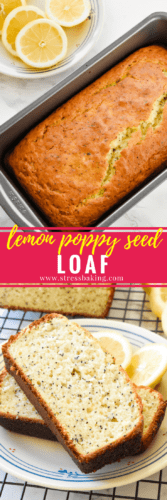 Lemon Poppy Seed Loaf: A tangy, sweet, moist loaf loaded with lemon flavor and dotted with crunchy poppy seeds! | stressbaking.com @stressbaking #stressbaking.com #lemon #spring #lemonpoppyseed