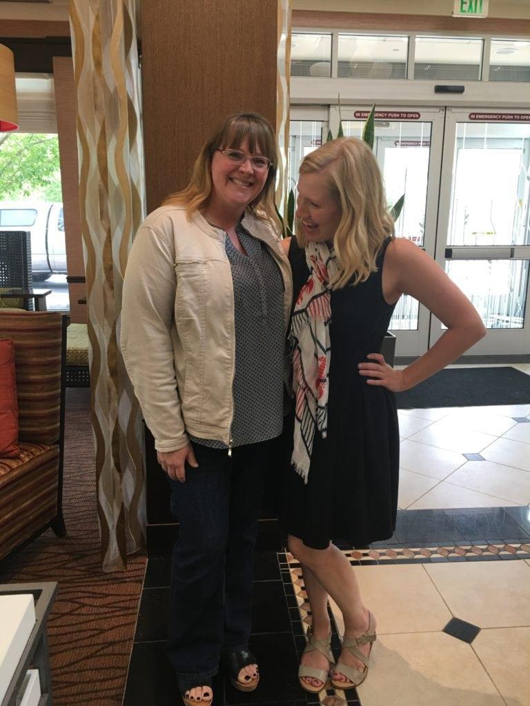 Amanda of I Am Baker and Leslie of Stress Baking