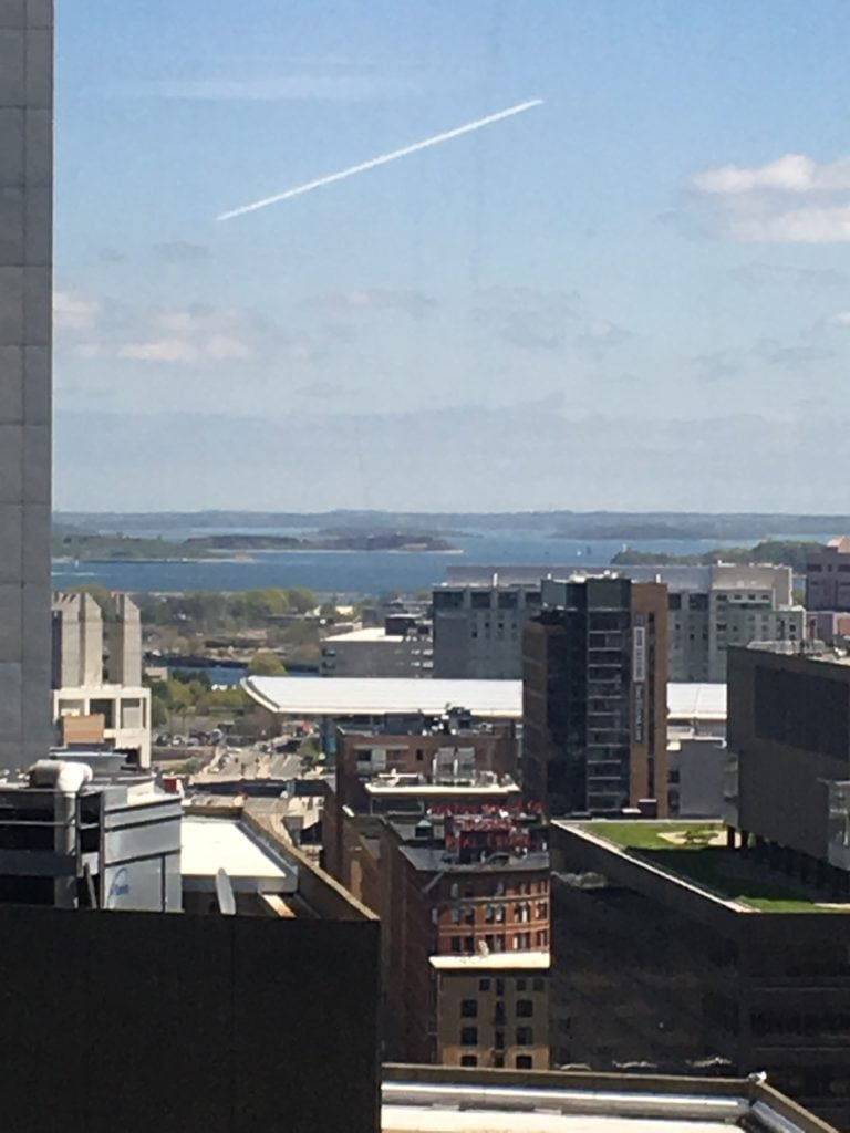 View from building in Boston