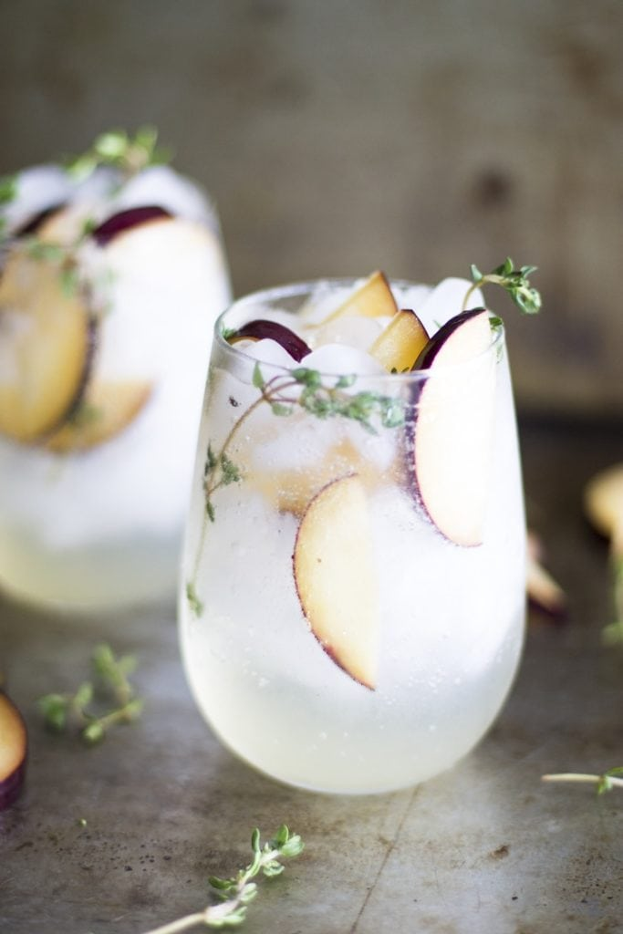 Plum and Thyme Prosecco Smash