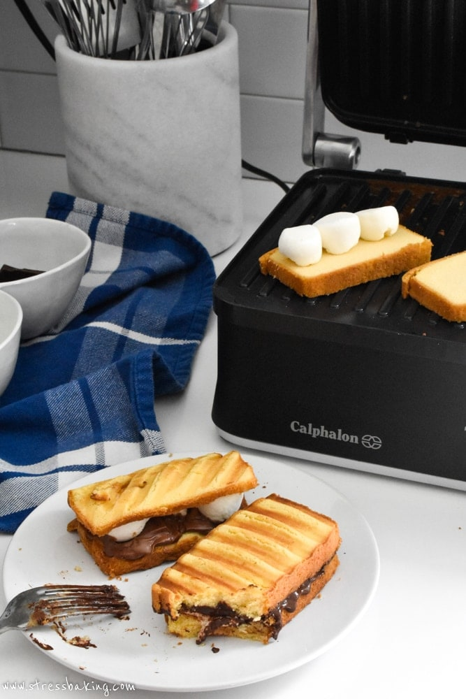Grilled Pound Cake S'mores made on Calphalon Precision Control™ Multi-Grill