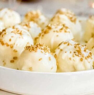 White Chocolate Champagne Truffles