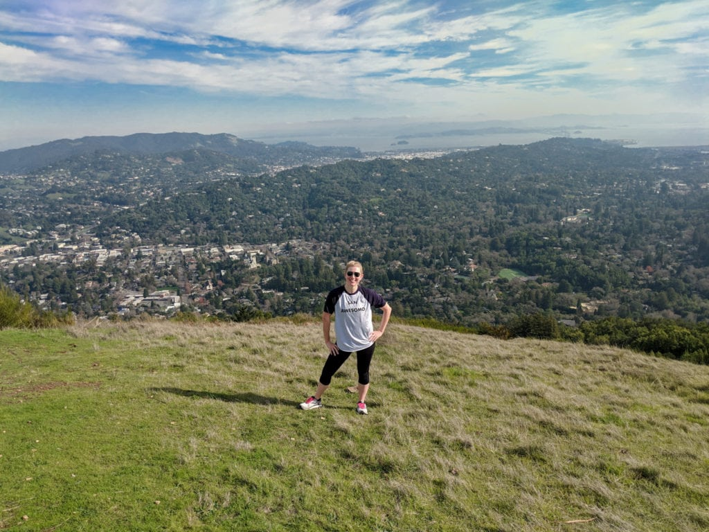 View from the top of Bald Hill in San Anselmo, California