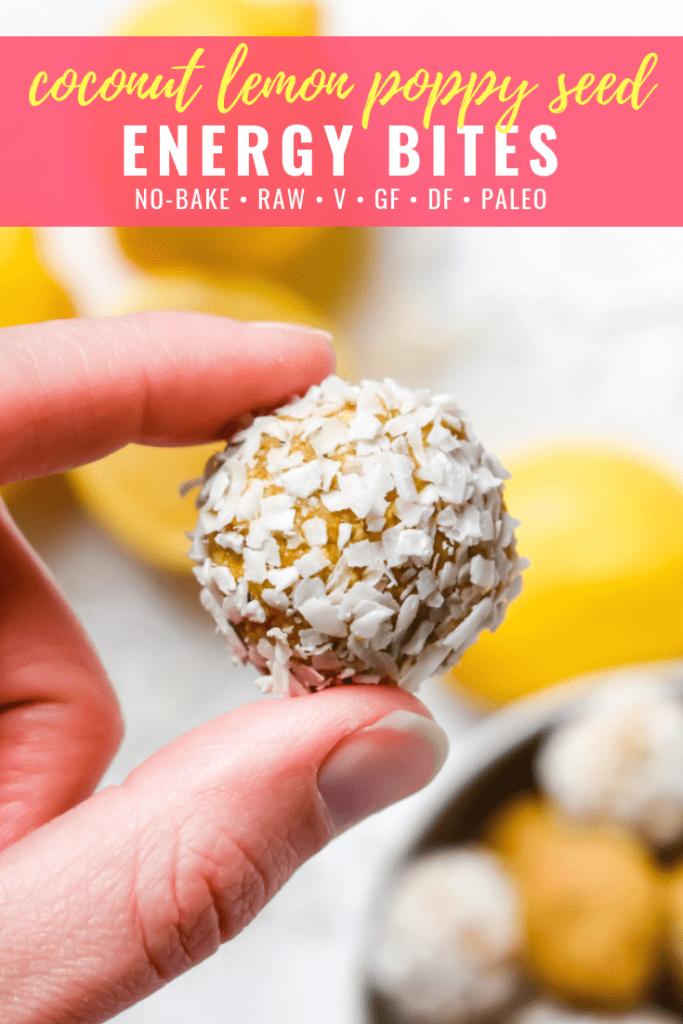 Coconut Lemon Poppy Seed Energy Bites