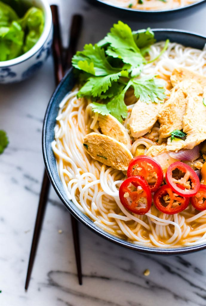 Spicy Almond Chicken Pho by Cotter Crunch