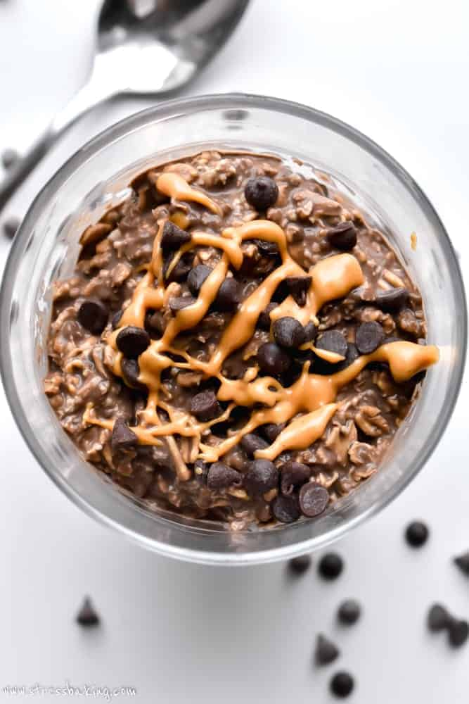 No Bake Cookie Overnight Oats