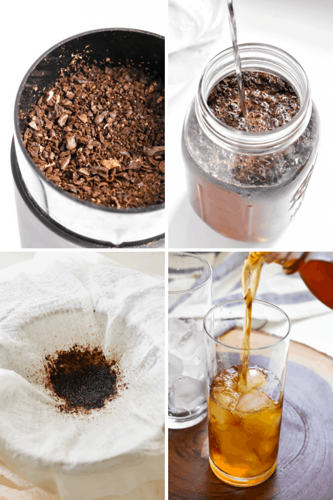How to make cold brew coffee steps