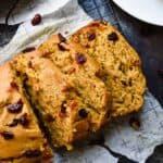 Cranberry Pumpkin Banana Bread