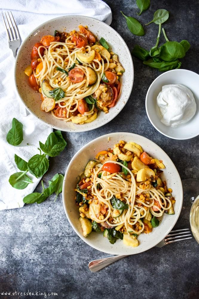 Easy Summer Vegetable Spaghetti